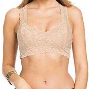 Nude- Wishlist Lace Bralette - Small